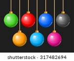 Colorful Christmas Balls Baubl...