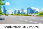 empty street with trees aside... | Shutterstock . vector #317490098