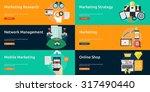 marketing   management | Shutterstock .eps vector #317490440