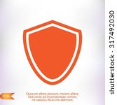 shield icon | Shutterstock .eps vector #317492030
