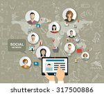 global social network abstract... | Shutterstock .eps vector #317500886