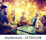 diverse people friends hanging... | Shutterstock . vector #317501108