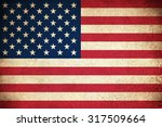 grunge flag of usa   united... | Shutterstock . vector #317509664