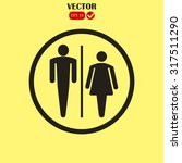 male and female restroom symbol ... | Shutterstock .eps vector #317511290