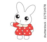 cute cartoon bunny girl in a... | Shutterstock .eps vector #317514578