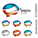 set of abstract speech bubble... | Shutterstock .eps vector #317530094