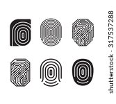 digital fingerprint vector set. ... | Shutterstock .eps vector #317537288