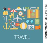 vector icons and concepts in... | Shutterstock .eps vector #317541743