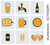 beer icons set   Shutterstock .eps vector #317542694