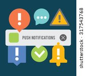 push notifications elements set....