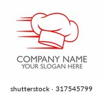 red fast chef hat vector icon... | Shutterstock .eps vector #317545799
