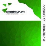 geometric elements green ... | Shutterstock . vector #317555000