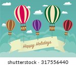 retro holiday background with... | Shutterstock .eps vector #317556440