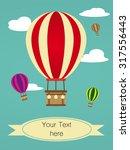 retro cloud scape background... | Shutterstock .eps vector #317556443