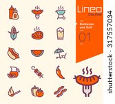 lineo colors   barbecue and... | Shutterstock .eps vector #317557034