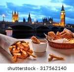 Fish And Chips Against Big Ben...