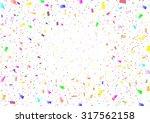 confetti background | Shutterstock .eps vector #317562158