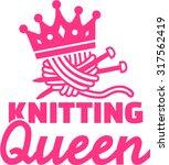 knitting queen | Shutterstock .eps vector #317562419