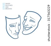Theater Masks  Drama And Comedy