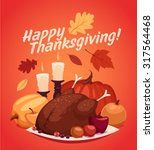 happy thanksgiving card ... | Shutterstock .eps vector #317564468