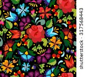awesome floral pattern in... | Shutterstock .eps vector #317568443