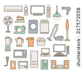 home appliances icons | Shutterstock .eps vector #317572058