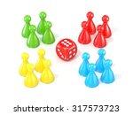 board game figurines. 3d render ... | Shutterstock . vector #317573723