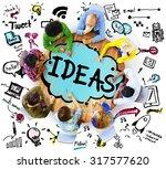 idea creative creativity... | Shutterstock . vector #317577620