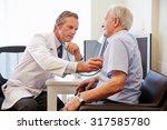 senior patient having medical... | Shutterstock . vector #317585780