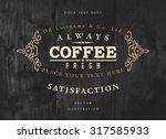 vintage frame for luxury logos  ... | Shutterstock .eps vector #317585933