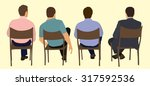white or caucasian sitting in... | Shutterstock .eps vector #317592536