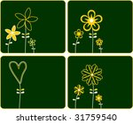 floral cards | Shutterstock .eps vector #31759540