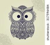 Vector Illustration Of Owl....
