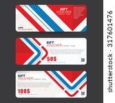 gift voucher template | Shutterstock .eps vector #317601476