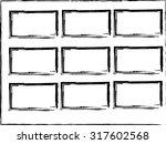 grunge frame set vector... | Shutterstock .eps vector #317602568