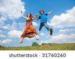 pretty smiling girl relaxing on ... | Shutterstock . vector #31760260