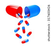 medical colorful capsules... | Shutterstock . vector #317603426