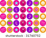 background with funny colored... | Shutterstock .eps vector #31760752