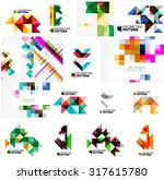 set of various universal... | Shutterstock .eps vector #317615780