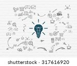 business concept  painted blue... | Shutterstock . vector #317616920