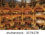 Gallery Lafayette Paris - stock photo
