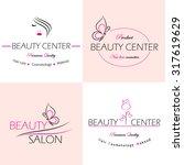 set of vector  logo templates ... | Shutterstock .eps vector #317619629