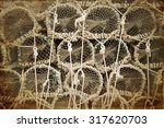detail of a stack of rope... | Shutterstock . vector #317620703