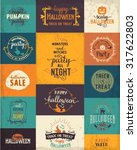 halloween party design elements ... | Shutterstock .eps vector #317622803