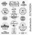 halloween party design elements ... | Shutterstock .eps vector #317622824
