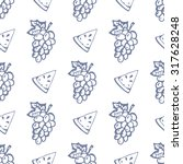 seamless pattern with grapes... | Shutterstock .eps vector #317628248