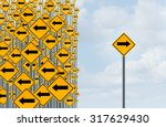 direction individuality and... | Shutterstock . vector #317629430