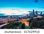 seattle skylines and interstate ... | Shutterstock . vector #317629910