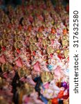 Small photo of Hundreds of Ganesha idols for sale in a shop in India, on occasion of Ganesh festival