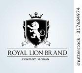 luxury vintage  crests logo... | Shutterstock .eps vector #317634974